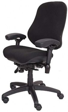 Body Bilt Black Fabric Executive High Back Task Chair