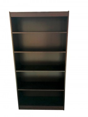 Four Shelf Mahogany Veneer Bookcase