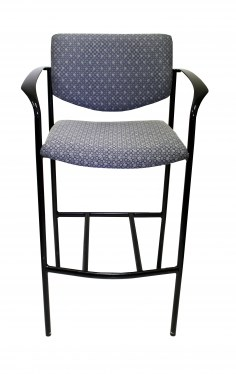 Black and Grey Steelcase Player Stool