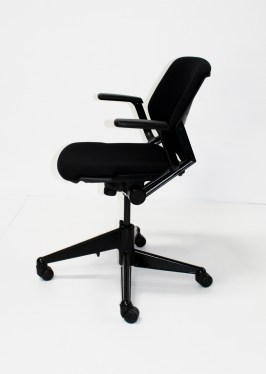 Black Fabric Mobile Nesting Chair