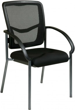 ProGrid Back Visitors Chair with Rounded Arms by Space Seating