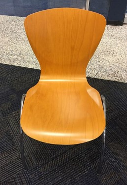 Bingo Light Maple Cafe Chair By Kimball