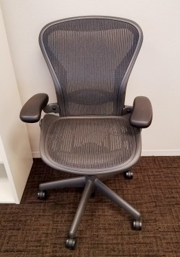 Aeron Black Size B Lumbar 3 Function Task Chair