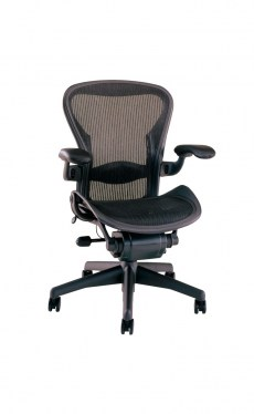 Aeron C Black Lumbar 3 Function Task Office Chair