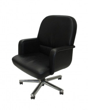 Brayton International Technique Mid-Back Conference Chair with Closed Arms