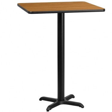 30 x 30 Square Bar Height Table with X Base by Space Seating