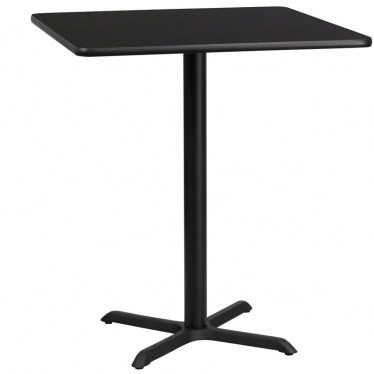 36 x 36 Round Bar Height Table with X Base by Space Seating