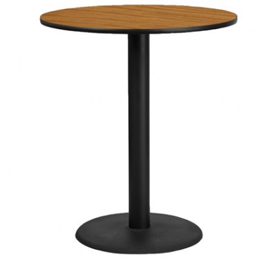 36 x 36 Round Bar Height Table with Round Base by Space Seating