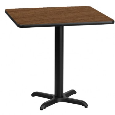 30 x 30 Square Break Height Table with X Base by Space Seating