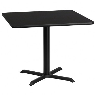 36 x 36 Square Break Height Table with X Base by Space Seating