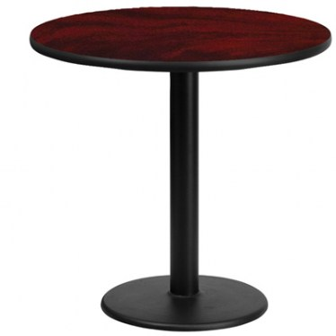 30 x 30  Round Break Height Table with Round Base by Space Seating