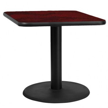 36 x 36 Square Break Height Table with Round Base by Space Seating