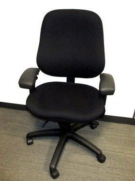 Body Bilt Black Fabric High Back Task Chair