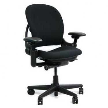 Leap V1 Round Back 3 Function Black Fabric Task Chair By Steelcase