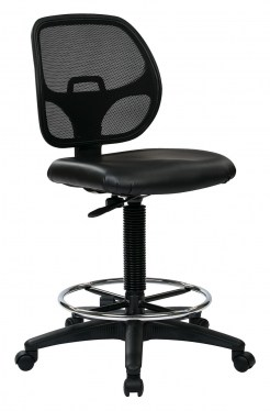 Deluxe Screen Back Drafting Chair with Vinyl Seat by Space Seating