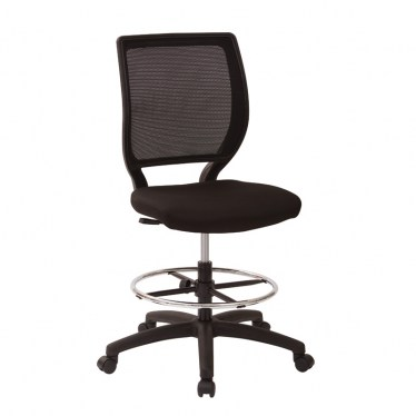 Mesh Back Drafting Chair with Fabric Seat by Space Seating