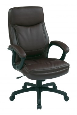 Mocha High Back Leather Managers Chair