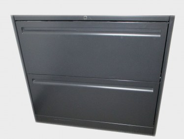 2 Drawer 30″Charcoal Lateral File By Haworth