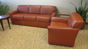 Rust Leather Club Chairs By Bernhardt