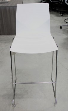 Hightower FourCast 2 White Bar Stool