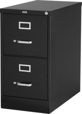 2 Drawer Black Metal Letter Vertical File By HON