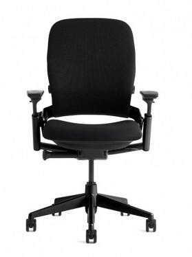 Leap V1 Square Back 3 Function Black Fabric Task Chair By Steelcase