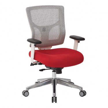 Gray with Color Fabric Seat Mesh Chair by Space Seating