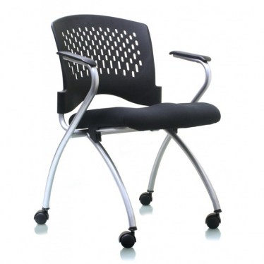 Plastic Back Nesting Chair with Arms by Space Seating