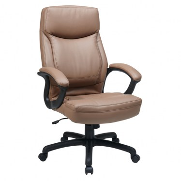 Latte Executive High Back Eco Leather Chair by Space Seating