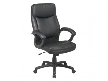 Black Executive High Back Eco Leather Chair by Space Seating