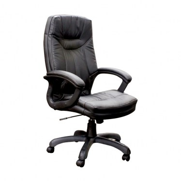 Black Executive High Back Faux Leather Chair by Space Seating
