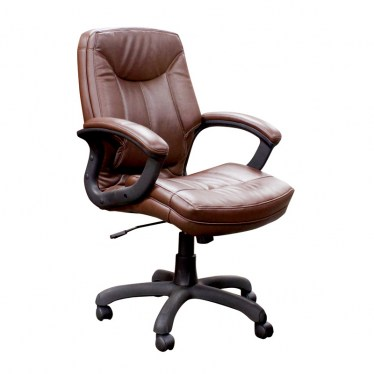 Saddle Executive Mid Back Faux Leather Chair by Space Seating