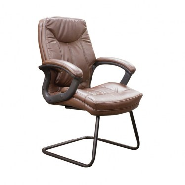 Saddle Faux Leather Guest Office Chair by Space Seating