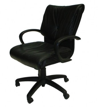 Sit On It Glove Conference Chair Black Leather
