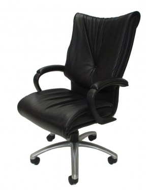 Sit-On-It Glove Task Chair with Chrome base