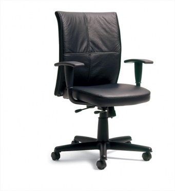 Turnstone Jacket By Steelcase Black Leather Conference Chair