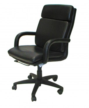 Taylor Black Leather Conference Chair