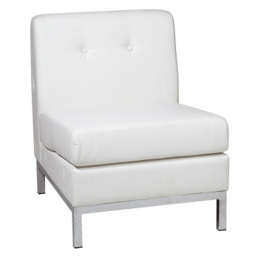 White  Armless Facing Modular Component by Space Seating