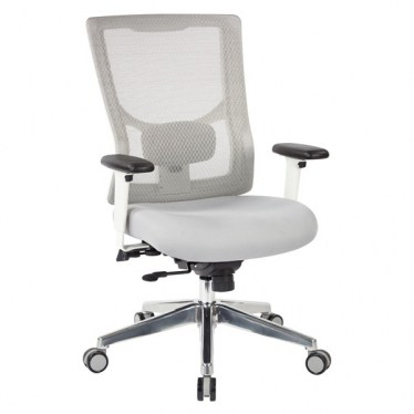 M-Flo White Mesh Back Task Chair